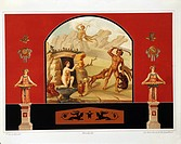 Fausto and Felice Niccolini, Pompei, Volume III, House of Sallust. Plate III: Diana and Actaeon.  Paris, Bibliothèque Des Arts Decoratifs (Library)
