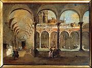 Francesco Guardi (1712-1793), The Friars' Cloister in Venice.  Bergamo, Galleria D'Arte Moderna E Contemporanea (Modern Art Museum)