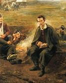 Imre Revesz (1859-1945), Petofi in the Army Camp, 1896.  Budapest, Magyar Nemzeti Galeria (Fine Arts Museum)