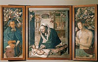 Albrecht Dürer (1471-1528), The Dresden Altar, ca. 1496.  Dresda, Gemäldegalerie Alte Meister (Old Masters Gallery, Picture Gallery)