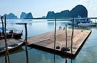 Panyee fishing village  Phang Nga Bay, Andaman Sea, Thailand, Asia.