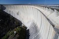 Almendra reservoir dam, Almendra, Salamanca province, Castilla y león, Spain
