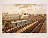 France - 18th century - Paris. Royal Palace in 1794, engraving  Paris, Bibliothèque Des Arts Decoratifs (Library)