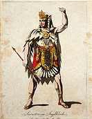 Wolfgang Amadeus Mozart (1756-1791), Die Zauberflote (The Magic Flute), 1791. Costume sketch for Sarastro for a performance in Vienna, 1812-13.  Vienn...