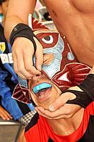 Naha (Japan): wrestling show at the Dragon Boat Festival