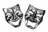 Comedy Tragedy masks - Symbollic representation of Theatre or drama