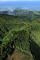 aerial view over the West Coast, Reunion island, overseas departement of France, Indian Ocean
