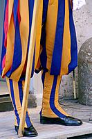 Rome Vatican City  Italy  Boots of the Pontifical Swiss Guards in St  Peter´s Square in Vatican City in Rome