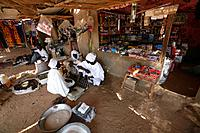market in a refugees camp in Chad