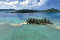French Polynesia (French overseas territory) - Society Islands - Leeward Islands - Bora-Bora Island - Motu Tapu.
