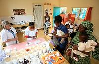 Photo essay for press only. Free clinic Servantes des Pauvres, Senegal.