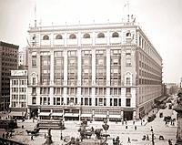 R.H. Macy and Company department store at Herald Square in New York City. 1905. BSLOC_2010_18_103