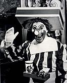 Willard Scott b. 1934 created the character of Ronald McDonald for television advertising of a McDonald´s franchise in Washington D.C. from 1963_66. M...