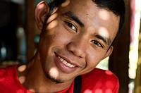 Man in shop waitabula sumba indonesia