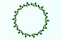The Round Frame Of Leaves