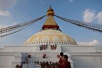 view of Monument, Pashupatinath, Kathmandu, Nepal, South Asia