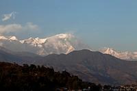 permanent snow of Annapurna, Himalayas, Pokhara, Nepal