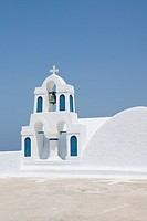 belltower of the church in Santorini, Cyclades Islands, Cyclades Prefecture, Greece, Europe
