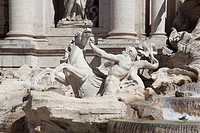 statue of the Trevi Fountain, Lazio, Nicola Salvi, Roma, Italy, Europe