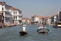 gondola on the Grand Canal, Venice, Italy, Europe