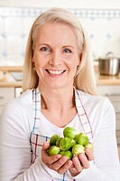 Woman preparing sprouts
