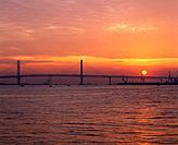 Yokohama Bay Bridge, Yokohama city, Kanagawa prefecture, Japan