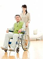 Father and Daughter, Father in a Wheelchair