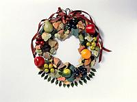 The Christmas Wreath Of Fruit