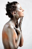 nude silver girl