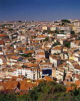 City rooftop view. Miradouro da Senhora do Monte.