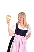 Women wearing Bavarian traditional dress