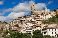 Frias  View of the village and the castle, Burgos province, Castille-Leon, Spain