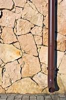 Brick Wall And Pipe