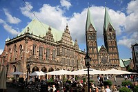 Town Hall and Cathedral in Markt square, Bremen, Germany