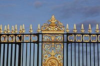 Decorative gates at the Place de la Concorde entrance to the Tuileries, Paris, France