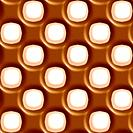 Milk chocolate and vanilla dotted geometric seamless tiling background texture pattern
