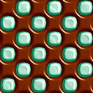 Dark chocolate and mint dotted geometric seamless tiling background texture pattern
