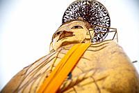 tall standing thai buddha, bangkok, thailand