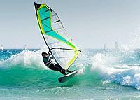 windsurfing off punta paloma, tarifa cadiz andalusia spain