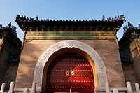 doorway to the temple of heaven, beijing, china