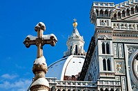 The Duomo Cathedral with snow during winter time, Firenze, Tuscany, Italy, UNESCO World Heritage Site