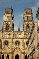 Main Facade of Sante Croix Cathedral in Orleans, France
