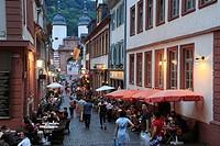 D-Heidelberg, Neckar, Rhine-Neckar area, nature reserve Neckartal-Odenwald, Bergstrasse, Odenwald, Baden-Wuerttemberg, old town, alleyway, Steingasse,...