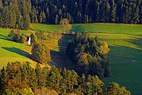 Fields and pastures near the village of St. Peter, Autumn, Southern Part of Black Forest, Black Forest, Baden_Wuerttemberg, Germany, Europe