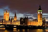 big ben westminster houses of parliament night london england uk
