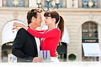 Romantic couple, Paris, Ile_de_France, France