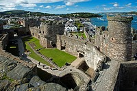 Conwy Castle in Conwy, Wales, UK