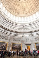 Inside the capitol, dome, tourists, centre and symbol of power, Washington, District of Columbia, United States of America, USA