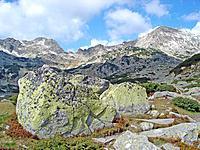 Mountain Ridge And Boulders