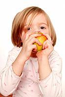 Girl Biting into Apple